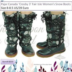 Pajar Canada Crosby 3 Womens Snow Boots Size 8-8.5
